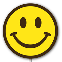 Magnetic Lollipop Mold - Happy Face - Yellow
