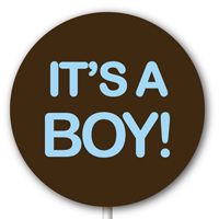 Magnetic Lollipop Mold - It's A Boy! - Sky