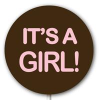 Magnetic Lollipop Mold - It's A Girl! - Rose