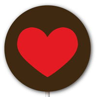 Magnetic Lollipop Mold - Giant Heart - Red