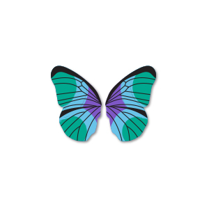 Butterfly - Teal