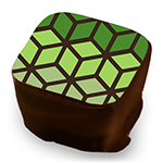 Gradient Hexacube - Green, Lime, & Sage