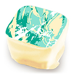 Marble Splatter - White, Sea Foam, & Teal - Size to Fit