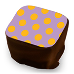 Retro Polka Dots - Mango & Lavender - Size to Fit