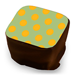 Retro Polka Dots - Mango & Sage - Size to Fit