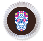 Daisy Sugar Skull - Size to Fit (2 1/2 in.)