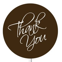 Magnetic Lollipop Mold - Thank You - White